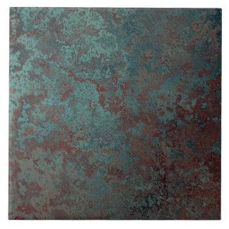 "Corrosion ""Copper"" print tile large"