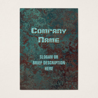 """Corrosion """"copper"""" print vertical chubby business card"""