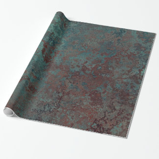 """Corrosion """" Copper"""" print wrapping paper"""