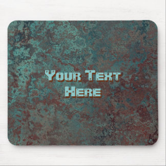 "Corrosion ""Copper"" Text print mousepad"