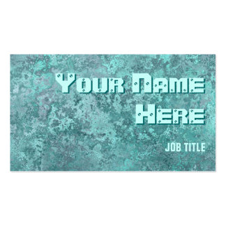 Corrosion green print business card side text