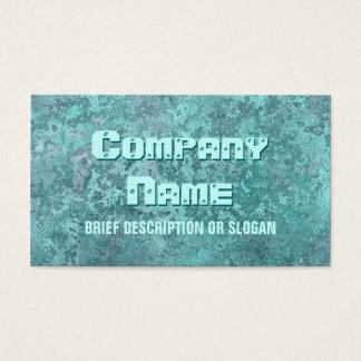 Corrosion green print 'description' business card