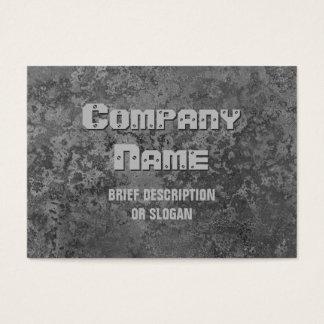 Corrosion grey print 'description' chubby business card