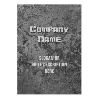 Corrosion grey print vertical chubby business cards