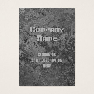 Corrosion grey print vertical chubby business card