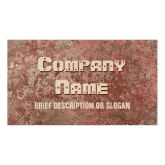Corrosion red print description business card