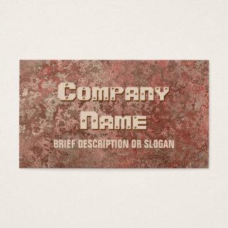 Corrosion red print 'description' business card