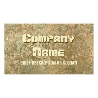 Corrosion yellow print description business card