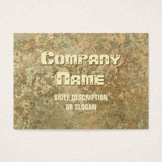 Corrosion yellow print 'description' chubby business card