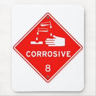 Corrosive Safety Red Sign Chemicals Caustic Mouse Pad