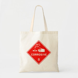 Corrosive Safety Red Sign Chemicals Caustic Tote Bag