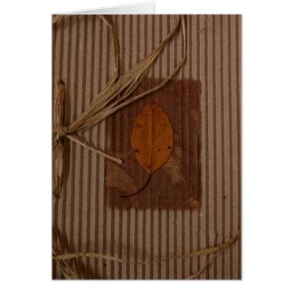 Corrugated cardboard/Leaf Greeting Card
