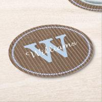 Corrugated Cardboard Look Custom Paper Coasters