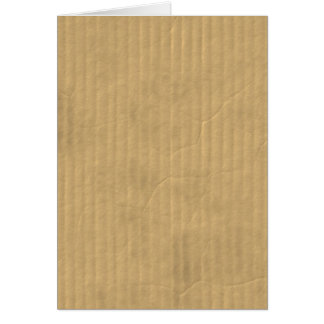 Corrugated Cardboard Texture Stationery Note Card