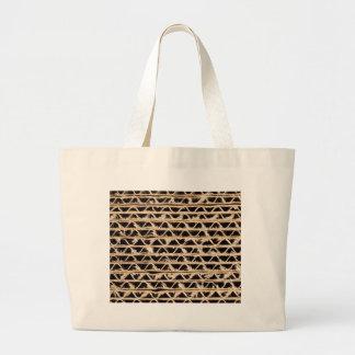Corrugated cardboard texture tote bag