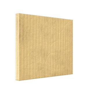 Corrugated Cardboard Texture Canvas Print