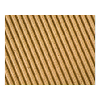 Corrugated cardboard texture card