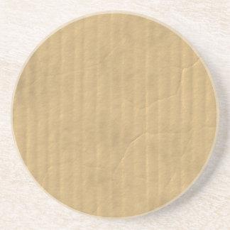 Corrugated Cardboard Texture Coaster