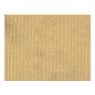 Corrugated Cardboard Texture Flyer