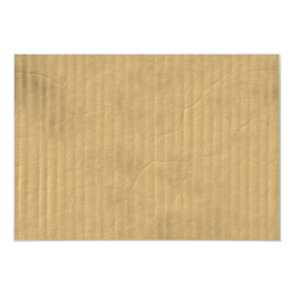 Corrugated Cardboard Texture 3.5x5 Paper Invitation Card