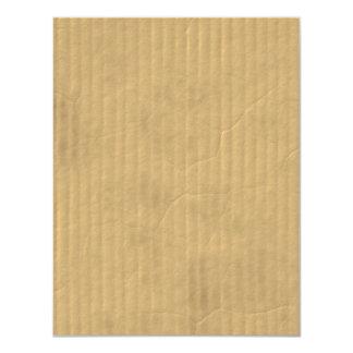 Corrugated Cardboard Texture 4.25x5.5 Paper Invitation Card