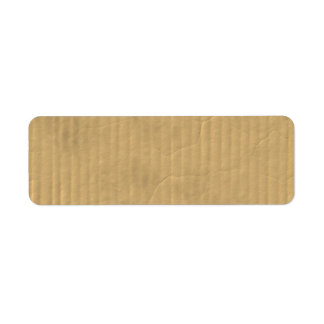Corrugated Cardboard Texture Label