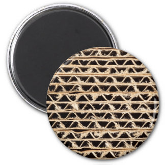 Corrugated cardboard texture magnet