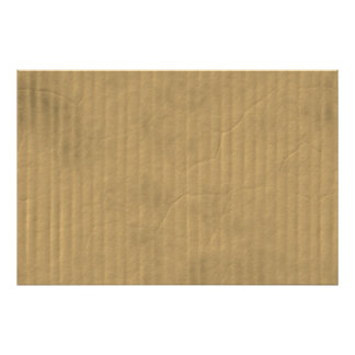 Corrugated Cardboard Texture Poster