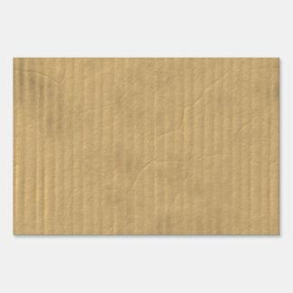 Corrugated Cardboard Texture Sign