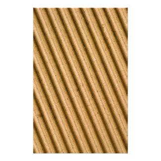 Corrugated cardboard texture stationery