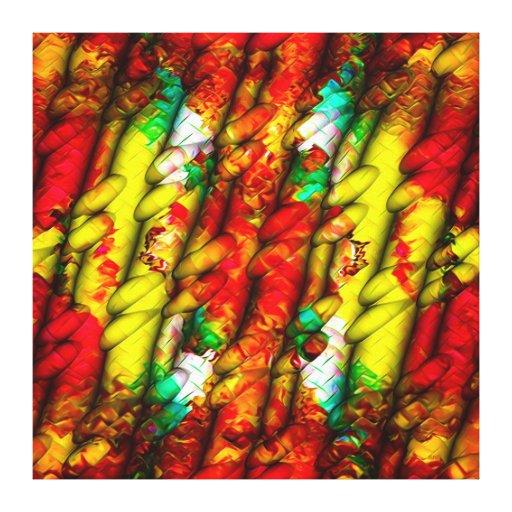 Corrugated Cocktail Technicolor Baguettes Gallery Wrap Canvas