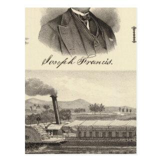 Corrugated iron steam yacht postcard