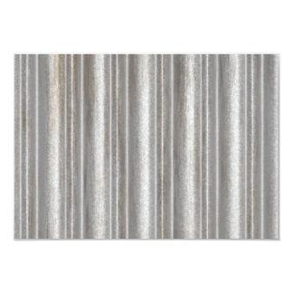 corrugated metal 3.5x5 paper invitation card