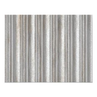 corrugated metal 4.25x5.5 paper invitation card