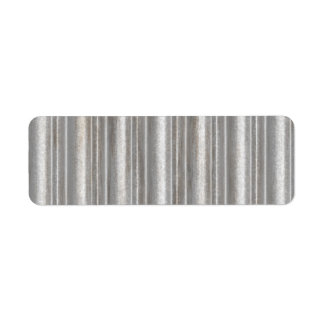 corrugated metal return address label