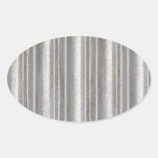 corrugated metal oval sticker