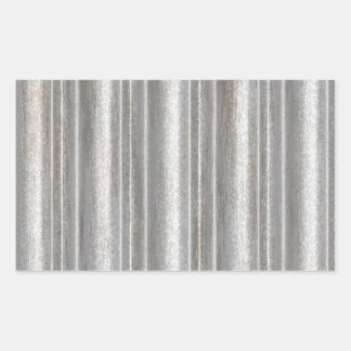 corrugated metal rectangular sticker
