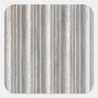 corrugated metal square sticker