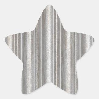 corrugated metal star sticker