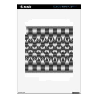 Corrugated metal texture iPad 3 skin