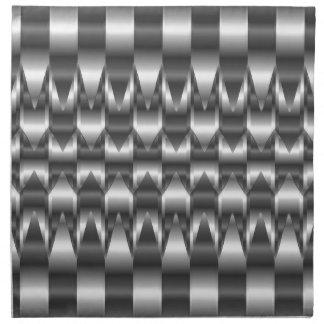 Corrugated metal texture napkin