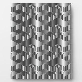 Corrugated metal texture plaque