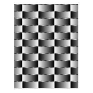 Corrugated metal texture postcard