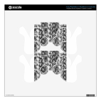Corrugated metal texture PS3 controller decals