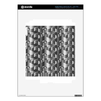 Corrugated metal texture iPad 3 decals