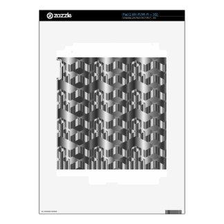 Corrugated metal texture iPad 2 skins