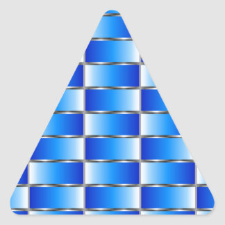 Corrugated metal texture triangle sticker