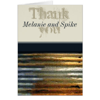 Corrugated Metal Thank You Note Cards