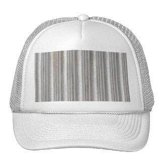 corrugated metal trucker hat