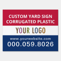 """Dump The Trump Yard Sign 18x24/"""" Corrugated Plastic w// H Stake Weather Resistant"""